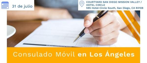 Este 31 de julio de 2021 se realizará el Consulado Movil en San Diego