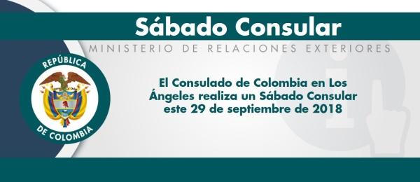 El Consulado de Colombia en Los Ángeles realiza un Sábado Consular este 29 de septiembre de 2018