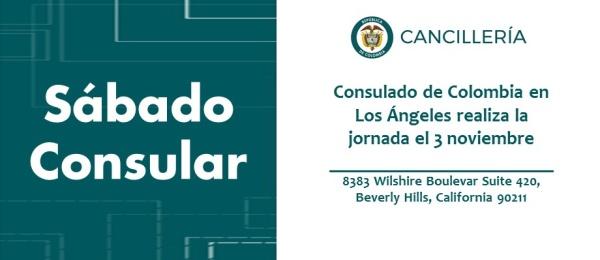 Se realizará la jornada de Sábado Consular en Los Ángeles este 3 de noviembre 2018